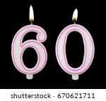 burning birthday candles on... | Shutterstock . vector #670621711