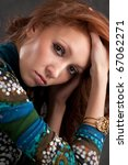 close up portrait of beautiful... | Shutterstock . vector #67062271