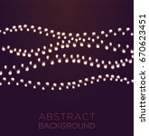 light garlands on dark... | Shutterstock .eps vector #670623451