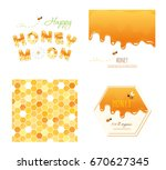 honeycomb seamless pattern... | Shutterstock .eps vector #670627345