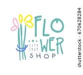 shop flower logo template hand...   Shutterstock .eps vector #670628284