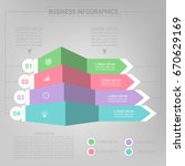 infographic template of four... | Shutterstock .eps vector #670629169