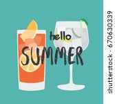 summer backgrounds collection.... | Shutterstock .eps vector #670630339