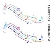 vector music note melody... | Shutterstock .eps vector #670630951