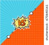 versus logo background... | Shutterstock . vector #670640161