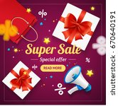super sale banner card or... | Shutterstock . vector #670640191