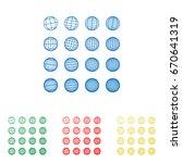 globes signs illustration.... | Shutterstock .eps vector #670641319