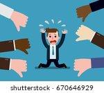 businessman thumps down....   Shutterstock .eps vector #670646929