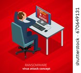 ransomware  malicious software...   Shutterstock .eps vector #670649131
