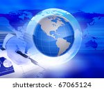abstract background on global... | Shutterstock . vector #67065124