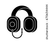 headphones icon | Shutterstock .eps vector #670654444