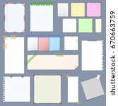 realistic blank note paper with ...   Shutterstock . vector #670663759