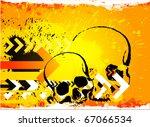 skull grunge background | Shutterstock .eps vector #67066534