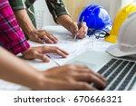 engineer architect working...   Shutterstock . vector #670666321