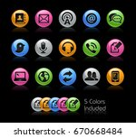 telecommunications icons   the... | Shutterstock .eps vector #670668484