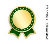 award ribbon isolated. gold...   Shutterstock .eps vector #670670119