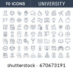 set of line icons  sign and... | Shutterstock . vector #670673191
