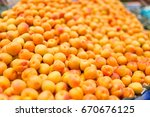 rape apricot harvest vibrant... | Shutterstock . vector #670676125