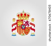 coat of arms of spain | Shutterstock .eps vector #670678405