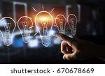 businesswoman on blurred... | Shutterstock . vector #670678669