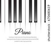 piano keys concept. vector...   Shutterstock .eps vector #670680619