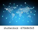 best internet concept of global ...   Shutterstock . vector #670686565