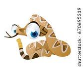vector cartoon animal...   Shutterstock .eps vector #670695319