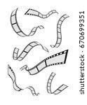 set of abstract film strip reel | Shutterstock .eps vector #670699351