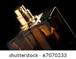 brown bottle of perfume close... | Shutterstock . vector #67070233