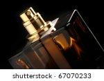 brown bottle of perfume close... | Shutterstock . vector #67070233