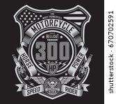 motorcycle rider typography ... | Shutterstock .eps vector #670702591