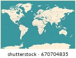 world map in vintage style.... | Shutterstock .eps vector #670704835