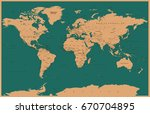 world map in vintage style.... | Shutterstock .eps vector #670704895
