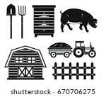 Farm Black Silhouette Set...