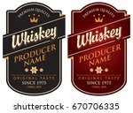 vector set of two labels for... | Shutterstock .eps vector #670706335