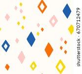 hand drawn rhoumbus diamond...   Shutterstock .eps vector #670712479