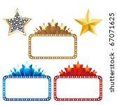 3 blank billboards with stars...   Shutterstock .eps vector #67071625