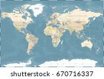 world map in vintage style.... | Shutterstock .eps vector #670716337