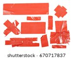 red duct repair tape isolated...   Shutterstock . vector #670717837