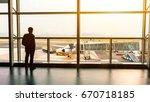 travel backpack tourists... | Shutterstock . vector #670718185