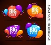 big sale  vector collection of... | Shutterstock .eps vector #670719349