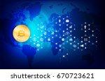 abstract dark blue background... | Shutterstock .eps vector #670723621