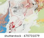 abstract hand painted... | Shutterstock . vector #670731079