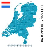 netherlands vector political... | Shutterstock .eps vector #670735594