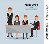 team work business people... | Shutterstock .eps vector #670738114