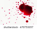 splatters of fresh human bright ... | Shutterstock . vector #670753357
