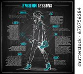 fashion infographic on a... | Shutterstock .eps vector #670756384