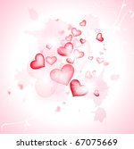 love abstract background with... | Shutterstock .eps vector #67075669
