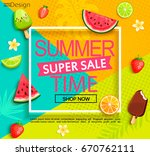 summer geometric super sale... | Shutterstock .eps vector #670762111
