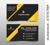 yellow corporate business card  ... | Shutterstock .eps vector #670767889